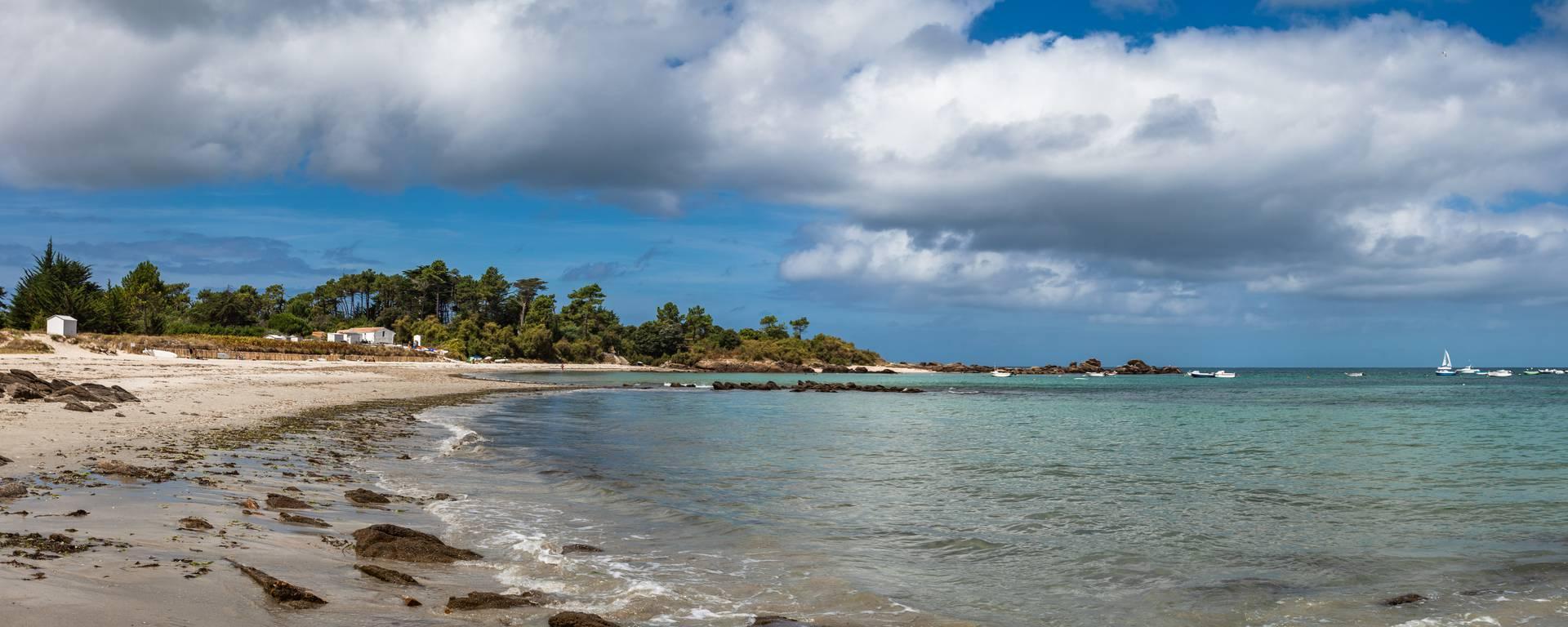 Plage des Sapins, côte nord est, Ile d'Yeu