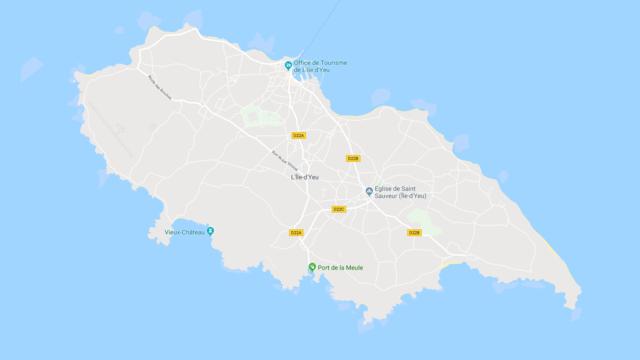Plan de l'Île d'Yeu