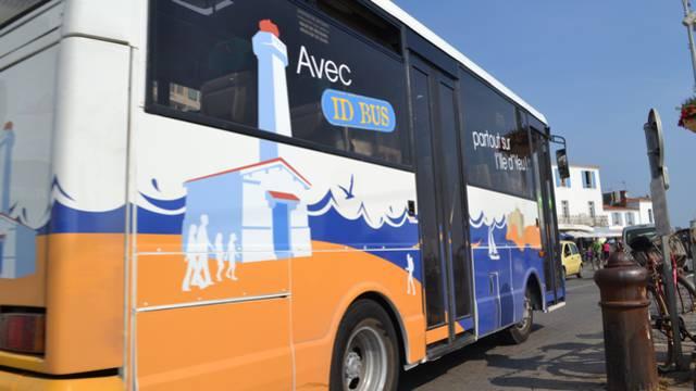 prendre le bus à l'Ile d'Yeu