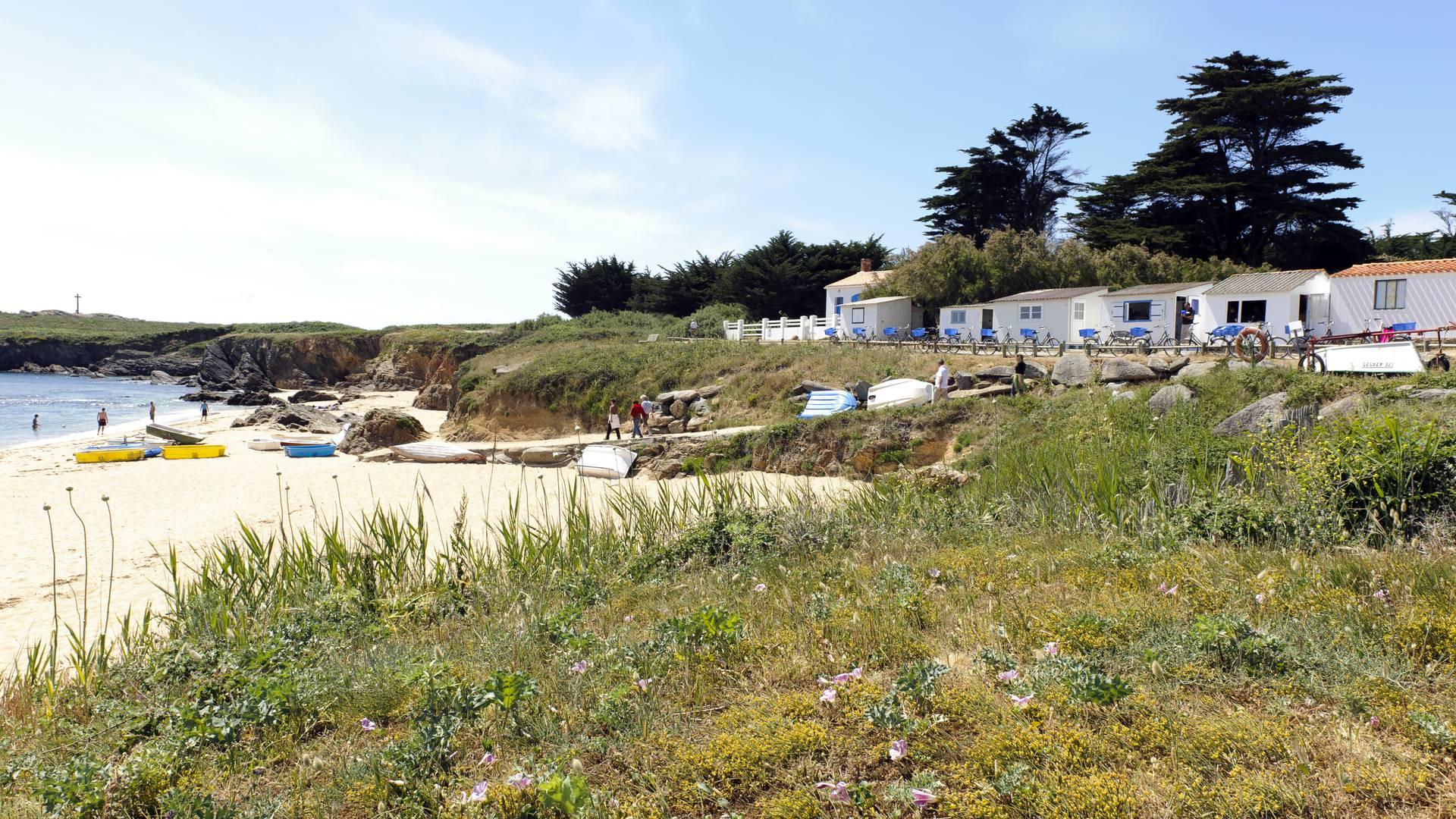 Plage des Sabias, cabanon de plage, Ile d'Yeu