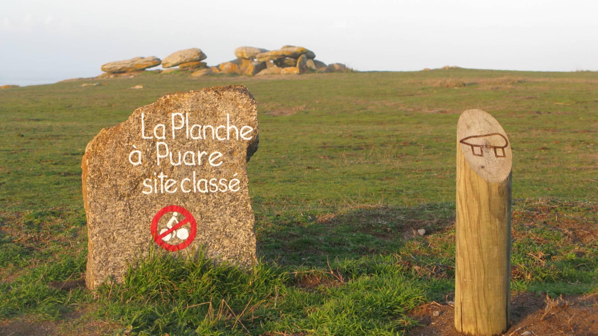 Signalétique site classé la Planche à Puare, Ile d'Yeu