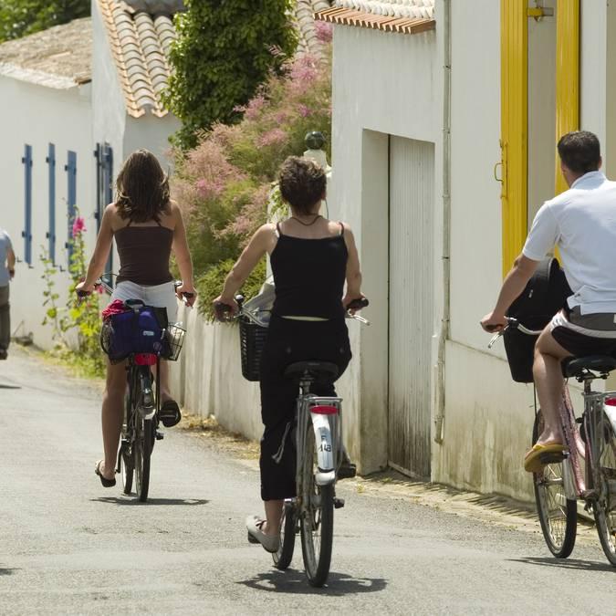 Balade à vélo dans le village de la Meule, Ile d'Yeu