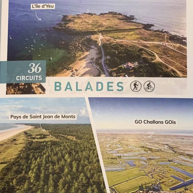Coffret 36 circuits (rando et vélo) Vendée des îles (8 €)